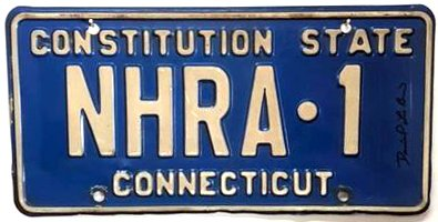 The Camaro wore this distinctive plate for many years