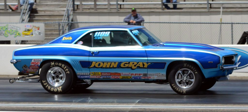 Current owner John Gray is fully aware of the long history of this car, and works hard to keep it competitive.